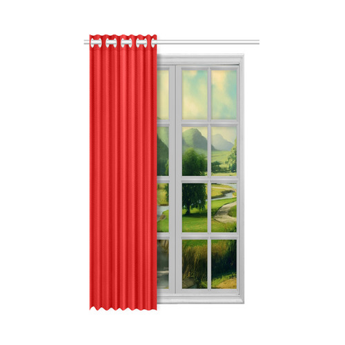 "Red New Window Curtain 50"" x 84""(One Piece)"
