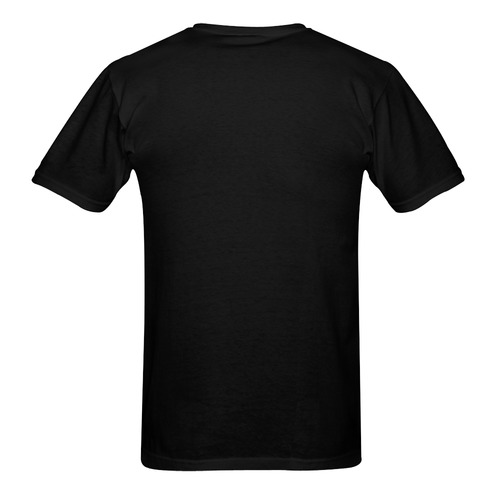 Christmas Mona Lisa with Santa Hat Sunny Men's T-shirt (USA Size) (Model T02)