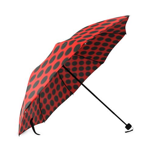 Black Red Ladybug Foldable Umbrella
