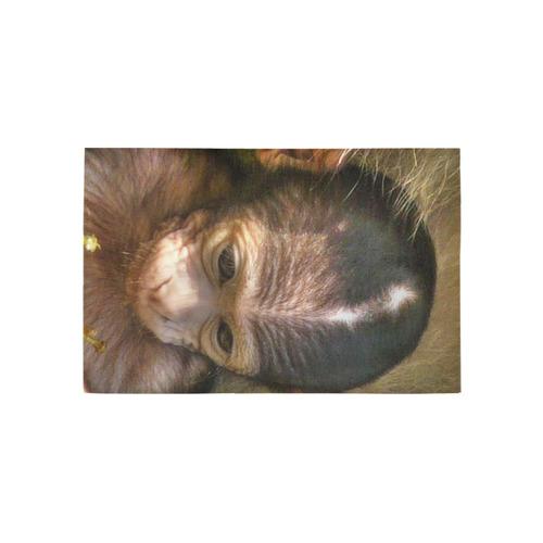sweet baby monkey Area Rug 5'x3'3''