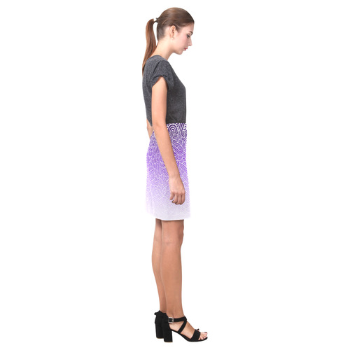 Ombre purple and white swirls doodles Nemesis Skirt (Model D02)