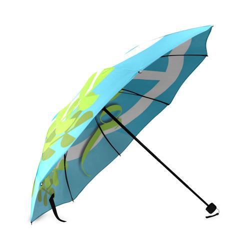 Peace Sign White Dove Olive Branch Foldable Umbrella