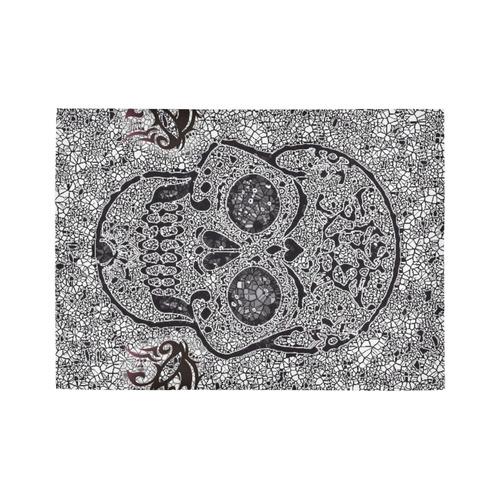 Mosaic Skull Area Rug7'x5'