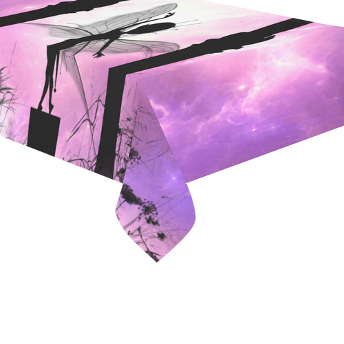 """Cute dancing fairy in the night Cotton Linen Tablecloth 60""""x 104"""""""