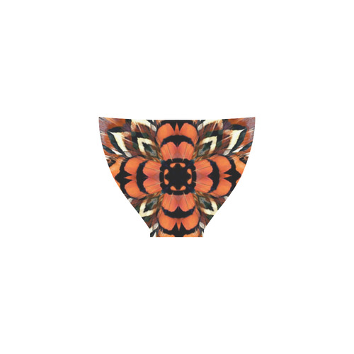 Pheasant Feather Kaleidoscope Custom Bikini Swimsuit
