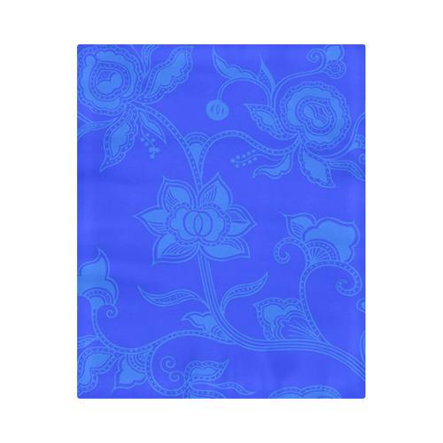 """Vintage Floral Blue Duvet Cover 86""""x70"""" ( All-over-print)"""