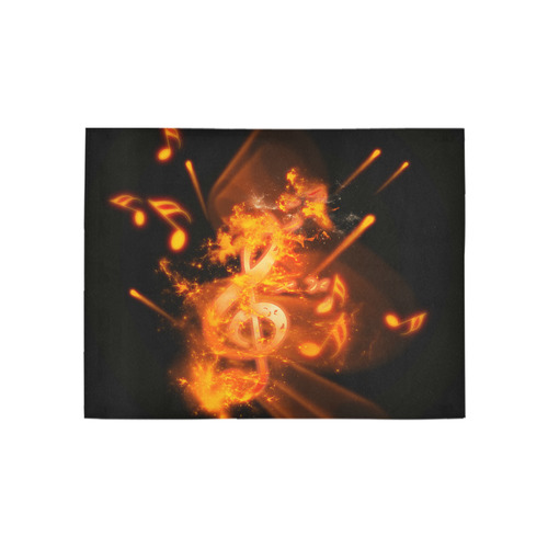 Clef with explosion Area Rug 5'3''x4'