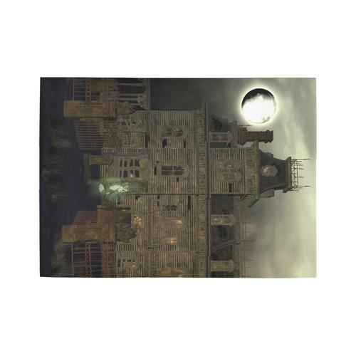 haunted house (halloween) Area Rug7'x5'