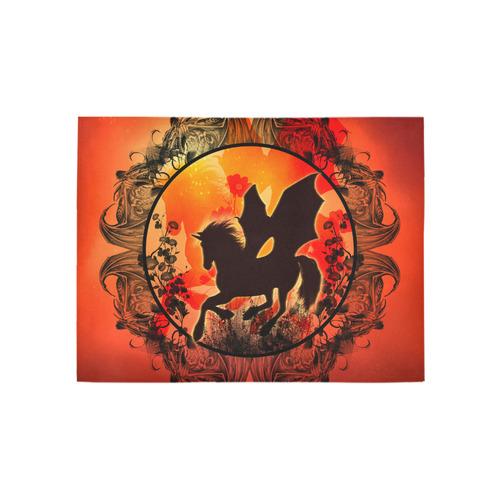 Wonderful black unicorn silhouette Area Rug 5'3''x4'