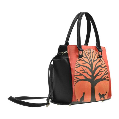 Spooky Cats Classic Shoulder Handbag (Model 1653)
