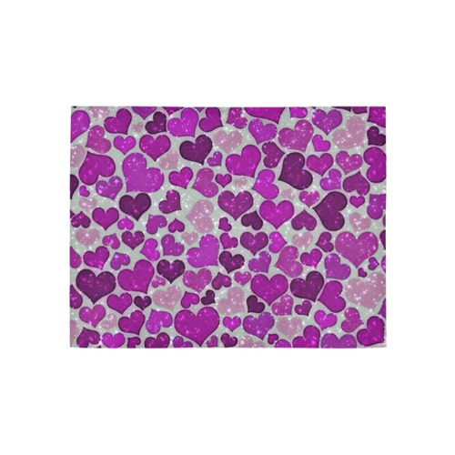 sparkling hearts purple Area Rug 5'3''x4'