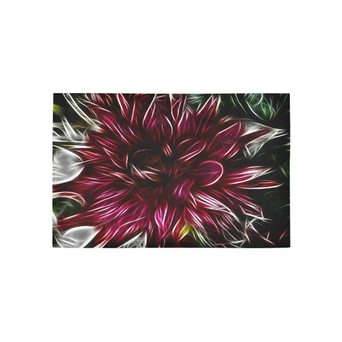Brilliant Fractal Flower Of Light Area Rug 5'x3'3''