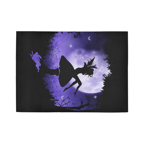 fairy in the moonlight Area Rug7'x5'