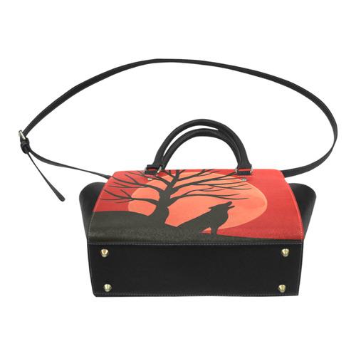 Spooky Wolf Classic Shoulder Handbag (Model 1653)