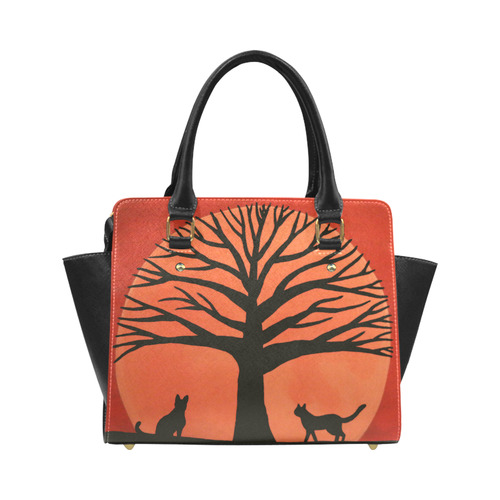 Spooky Cats Classic Shoulder Handbag (Model 1653)