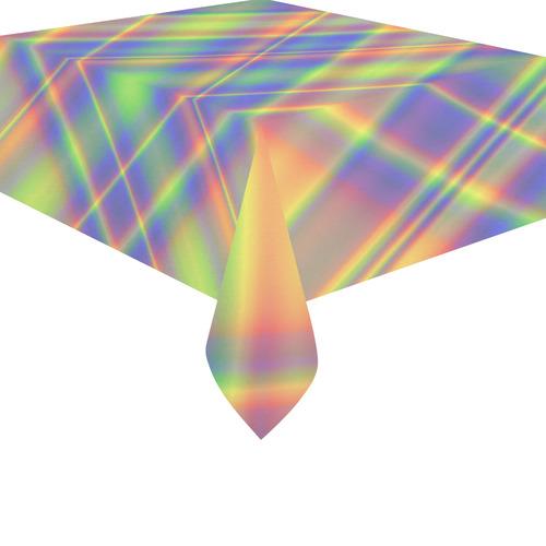 """Plaid Cotton Linen Tablecloth 52""""x 70"""""""