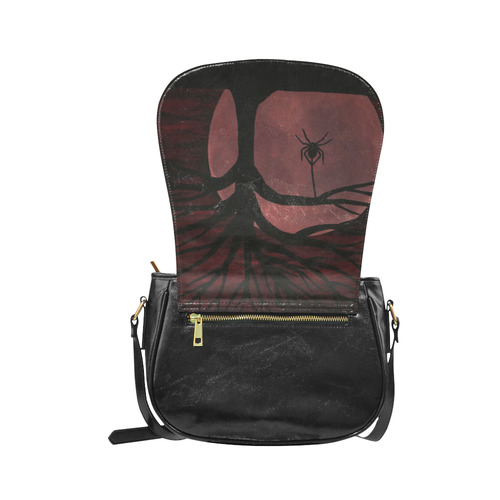 Spooky Spider Tree Classic Saddle Bag/Small (Model 1648)