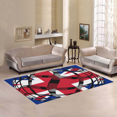 The Flag of United Kingdom Area Rug7'x5'