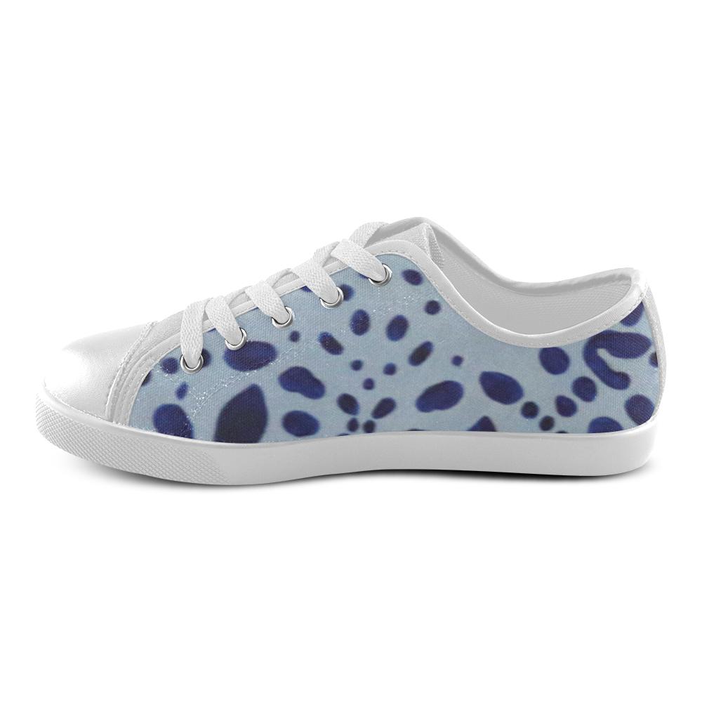 Ultramarine Jaguar Canvas Kid's Shoes (Model 016)