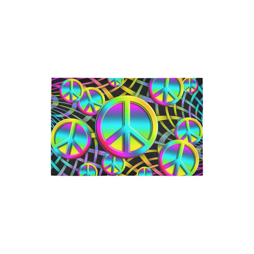 """Neon Colorful PEACE pattern Area Rug 2'7""""x 1'8''"""