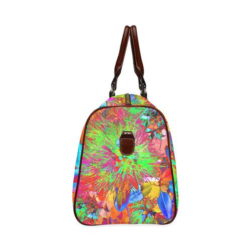"""Kiwi Lifestyle"" - Pohutukawa NZ Bloom - Pop ART Waterproof Travel Bag/Small (Model 1639)"