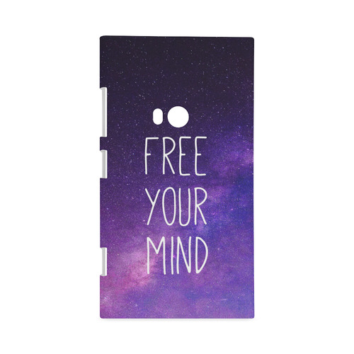 """Free Your Mind Quotes Awesome Free Your Mind"""" Quote Purple Blue Night Sky Hard Case For Nokia"""
