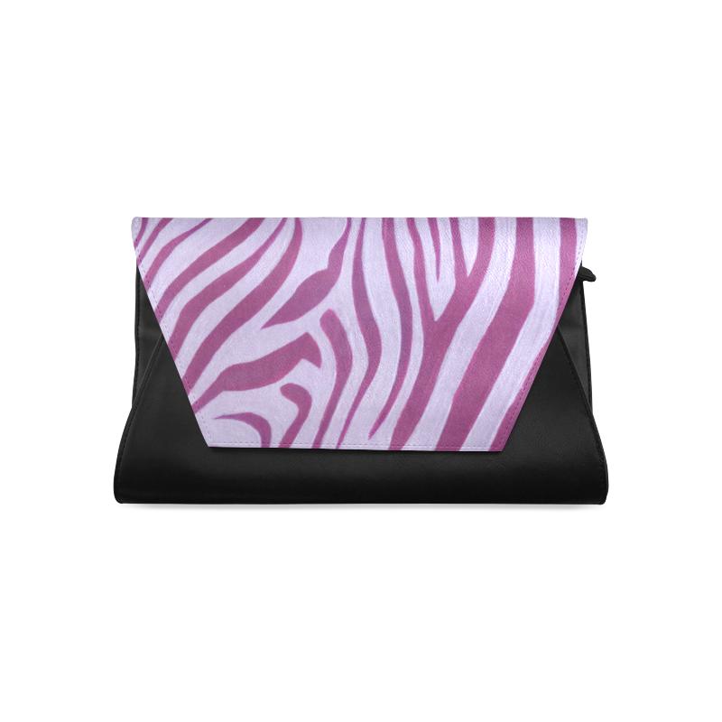 Magenta Zebra Clutch Bag (Model 1630)