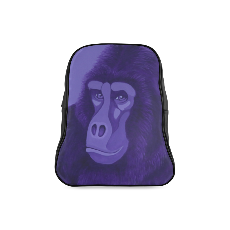 Violet Gorilla School Backpack/Large (Model 1601)