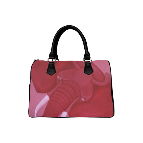 Crimson Elephant Boston Handbag (Model 1621)
