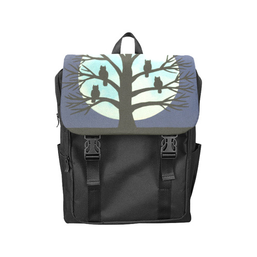 Spooky Owl Tree Casual Shoulders Backpack (Model 1623)
