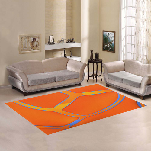 Nothing Rhymes With Orange Area Rug7'x5'
