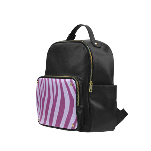Magenta Zebra (Stripes) Campus backpack/Large (Model 1650)