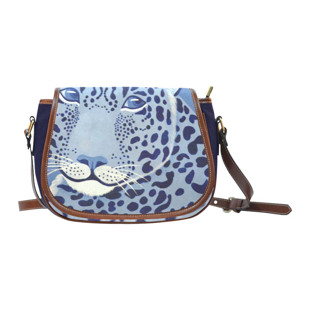 Ultramarine Jaguar Saddle Bag/Small (Model 1649) Full Customization