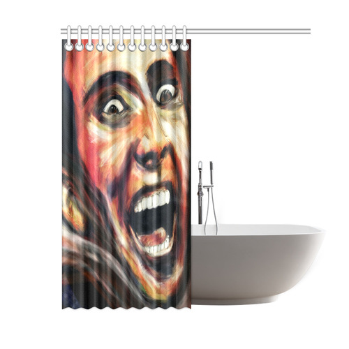 "Nic Cage is hot shower Shower Curtain 60""x72"""