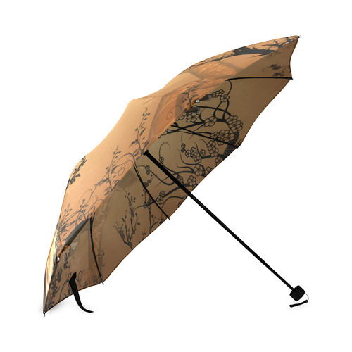 Cute giraffe in the fantasy wood Foldable Umbrella
