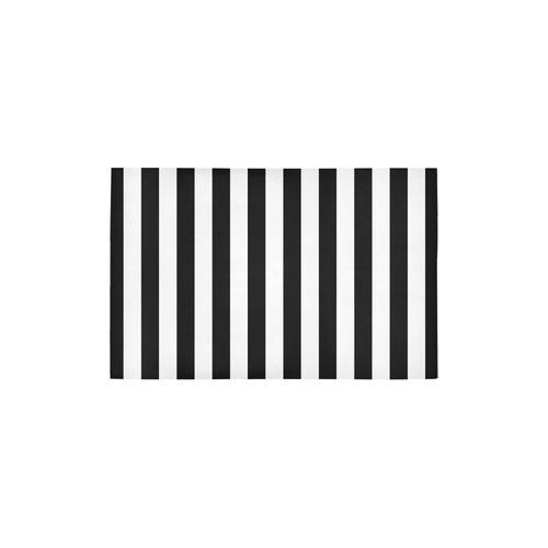 "Black Stripes Area Rug 2'7""x 1'8''"