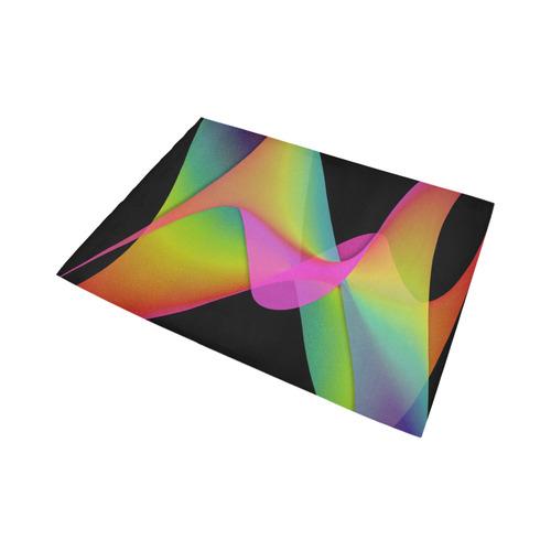 rainbow twist Area Rug7'x5'