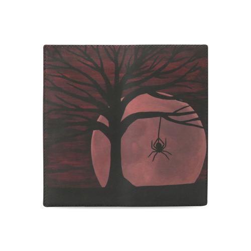 Spooky Spider Tree Women's Leather Wallet (Model 1611)