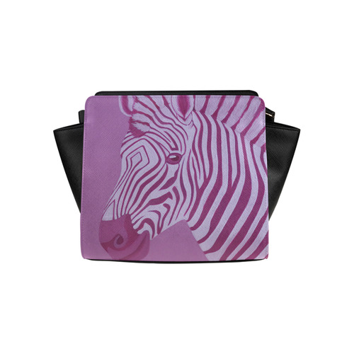 Magenta Zebra Satchel Bag (Model 1635)