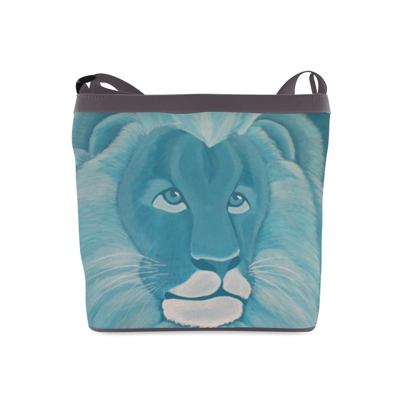 Turquoise Lion Crossbody Bags (Model 1613)