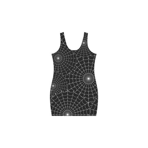 Halloween Spiderwebs - White Medea Vest Dress (Model D06)