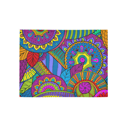 Pop Art PAISLEY Ornaments Pattern multicolored Area Rug 5'3''x4'