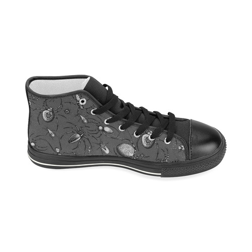 beetles spiders creepy crawlers insects bugs Women's Classic High Top Canvas Shoes (Model 017)