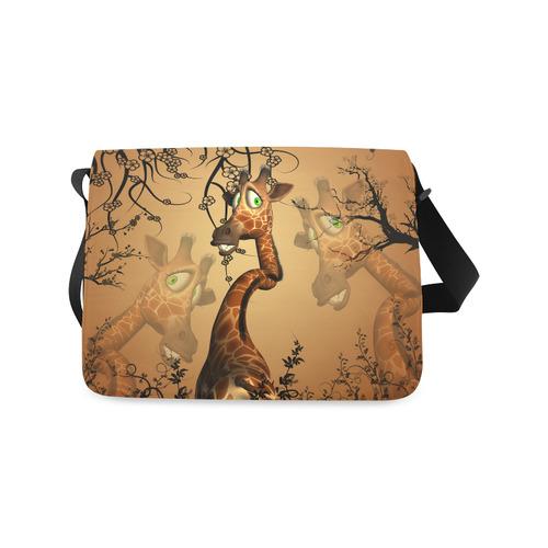 Cute giraffe in the fantasy wood Messenger Bag (Model 1628)