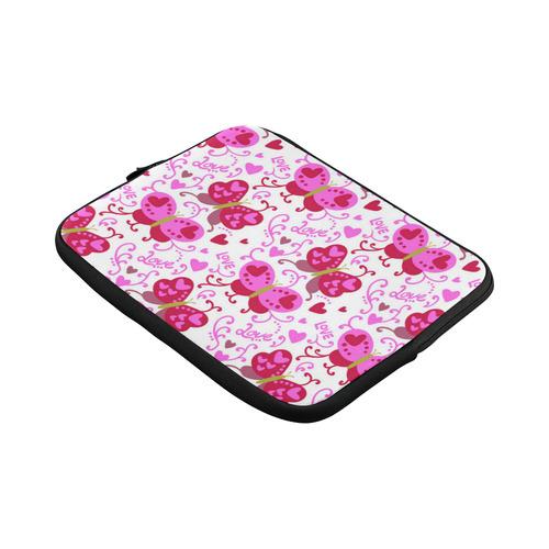Cute Pink Hearts Butterfly Love Pattern Macbook Pro 13''