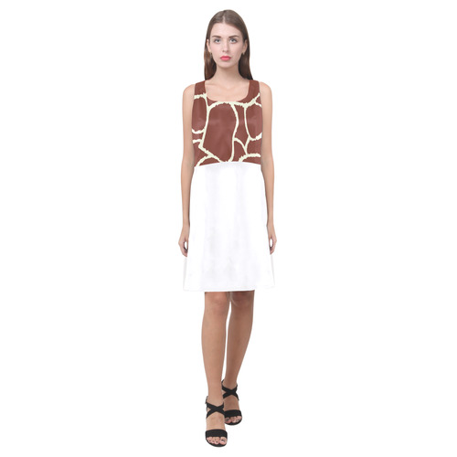 Original Giraffe designers Dress by guothova! Brown and white vintage Edition Hebe Casual Sundress (Model D11)