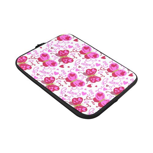 Cute Pink Hearts Butterfly Love Pattern Macbook Pro 15''