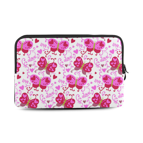 Cute Pink Hearts Butterfly Love Pattern Macbook Air 11''