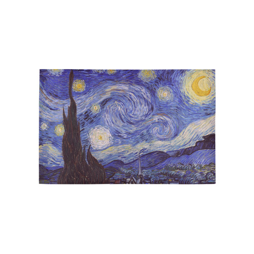 Vincent Van Gogh Starry Night Area Rug 5'x3'3''
