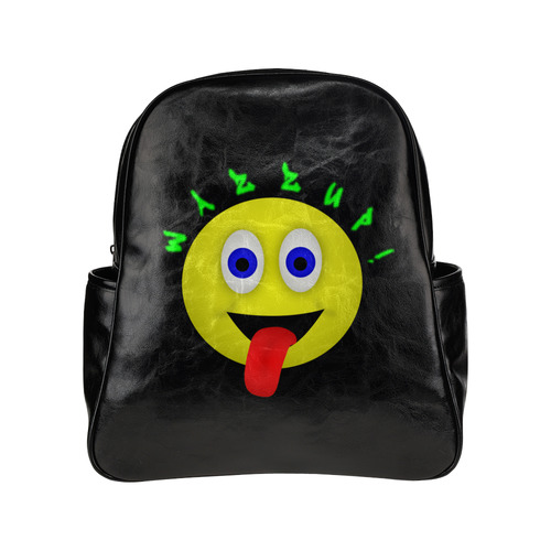 Wazzup Funny Smiley Multi-Pockets Backpack (Model 1636)